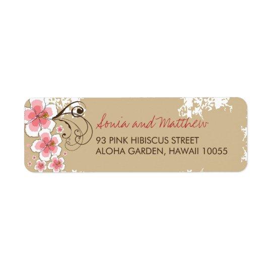 Etiquetas de endereço chiques do casamento do