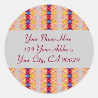 Etiquetas de endereço coloridas das fitas