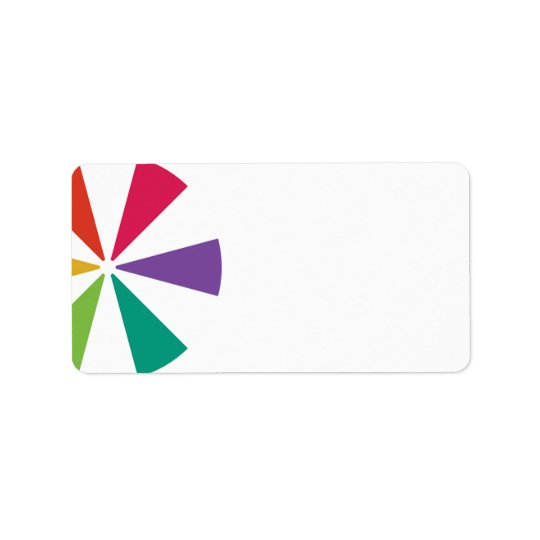 Etiquetas de endereço coloridas etiqueta de endereço