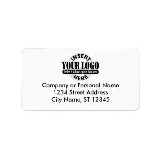 Etiquetas de endereço comercial etiqueta de endereço