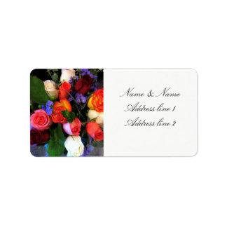 Etiquetas de endereço cor-de-rosa
