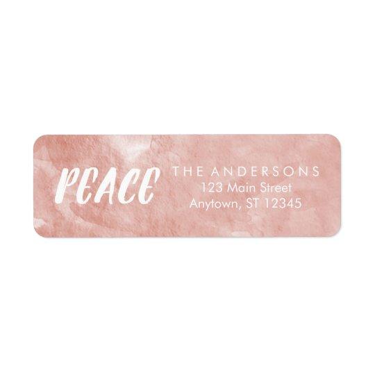 Etiquetas de endereço cor-de-rosa do feriado da etiqueta endereço de retorno