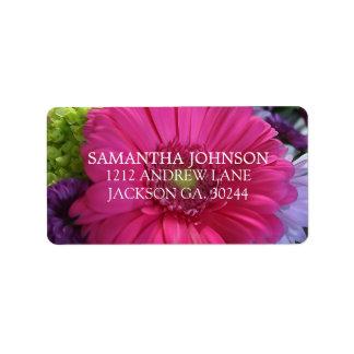 Etiquetas de endereço cor-de-rosa ricas da