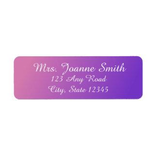 Etiquetas de endereço cor-de-rosa/roxas