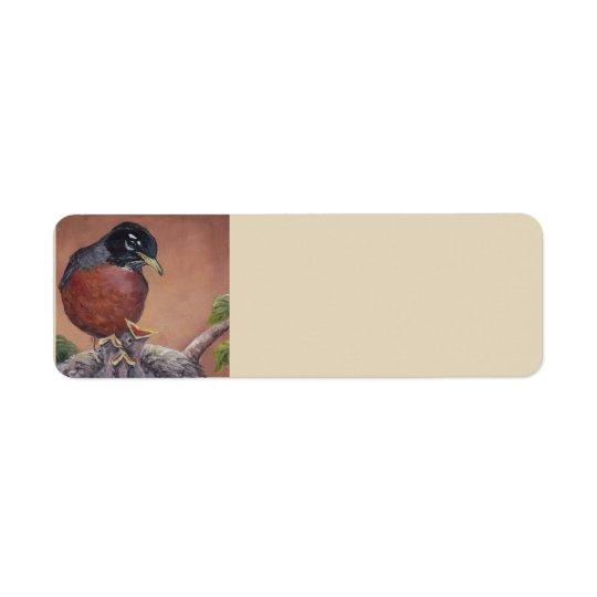 Etiquetas de endereço da arte do pássaro do pisco