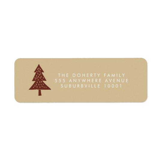 Etiquetas de endereço da árvore do Xmas do ponto