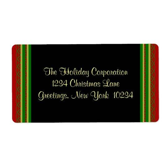 Etiquetas de endereço da beira do Natal Etiqueta De Frete