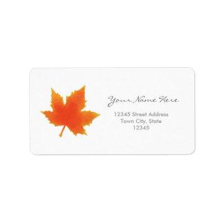 Etiquetas de endereço da folha de bordo etiqueta de endereço