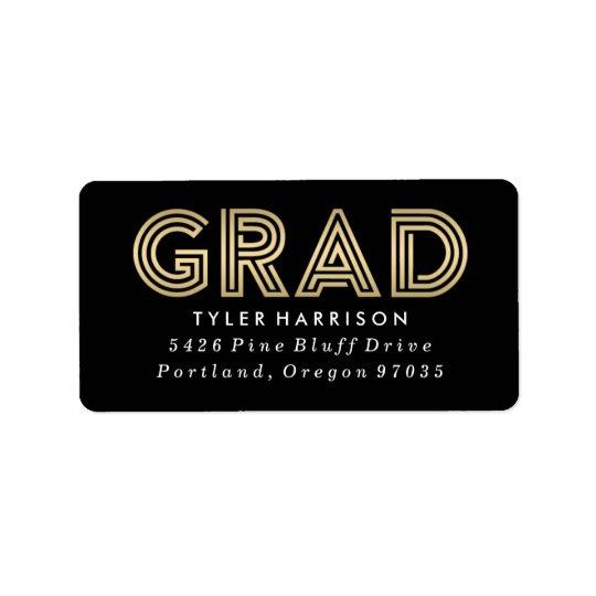 Etiquetas de endereço da graduação do formando | etiqueta de endereço