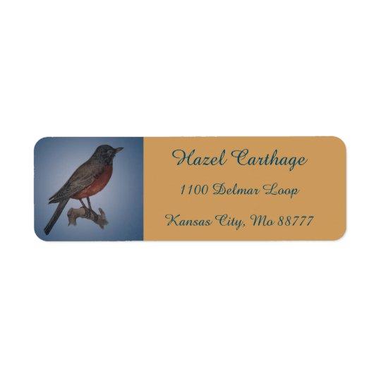 Etiquetas de endereço da ilustração do pisco de etiqueta endereço de retorno