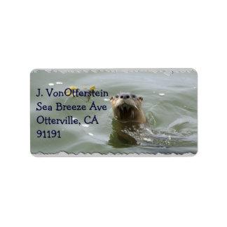 Etiquetas de endereço da lontra de mar
