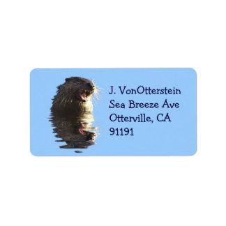 Etiquetas de endereço da lontra de rio