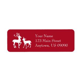 Etiquetas de endereço da rena (Borgonha)