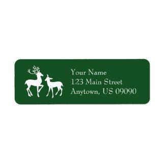 Etiquetas de endereço da rena (Evergreen)