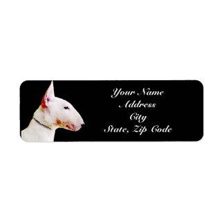 Etiquetas de endereço de bull terrier etiqueta endereço de retorno