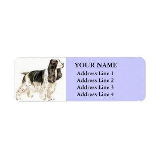 Etiquetas de endereço de cocker spaniel (lilac)