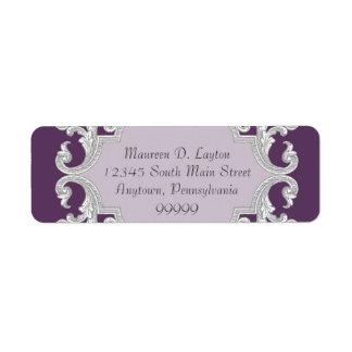 Etiquetas de endereço de harmonização roxas da
