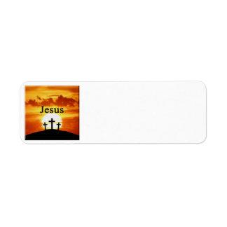 Etiquetas de endereço de Jesus do nascer do sol do Etiqueta Endereço De Retorno