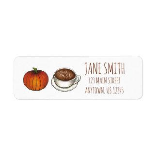 Etiquetas de endereço de Latte do café da