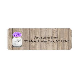 Etiquetas de endereço de madeira hyd3 do casamento