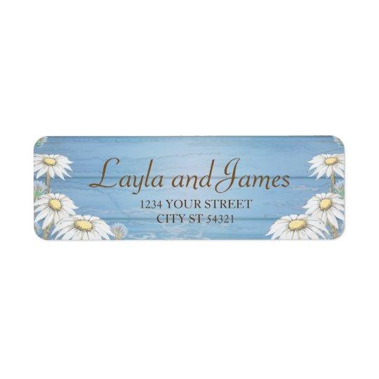 Etiquetas de endereço de madeira lunáticas da etiqueta endereço de retorno