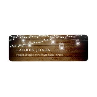 Etiquetas de endereço de madeira rústicas do