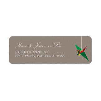 Etiquetas de endereço de papel festivas do feriado