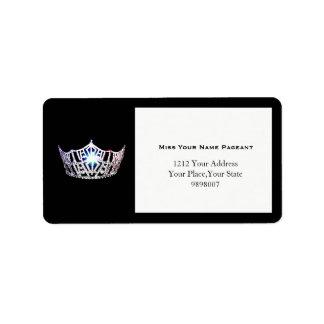 Etiquetas de endereço de prata da coroa da