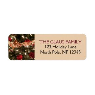 Etiquetas de endereço decorativas do feriado da etiqueta endereço de retorno