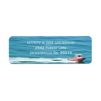 Etiquetas de endereço do barco