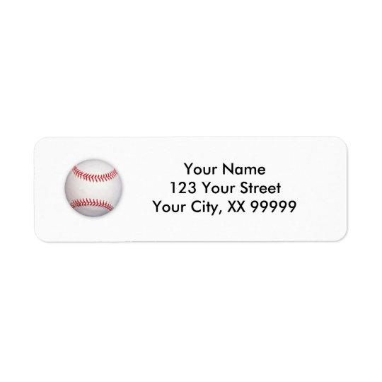 Etiquetas de endereço do basebol etiqueta endereço de retorno