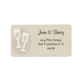 Etiquetas de endereço do casamento