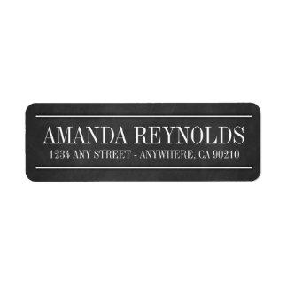 Etiquetas de endereço do casamento da tipografia etiqueta endereço de retorno
