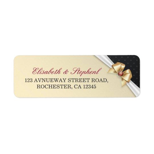 Etiquetas de endereço do casamento de diamante da etiqueta endereço de retorno