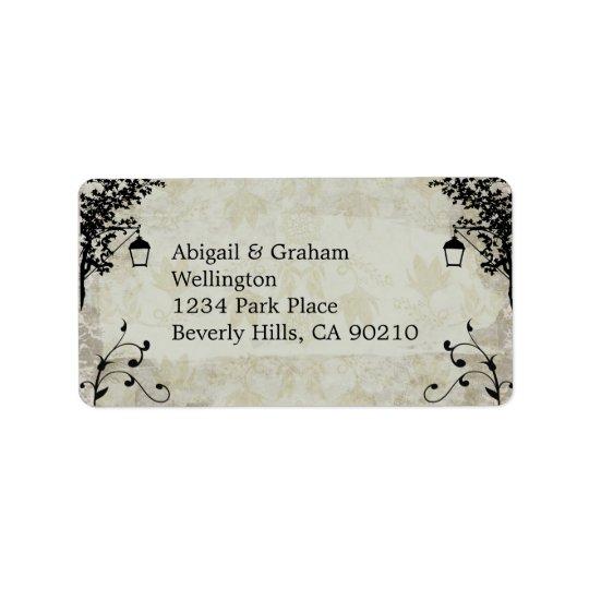 Etiquetas de endereço do casamento do olhar do etiqueta de endereço