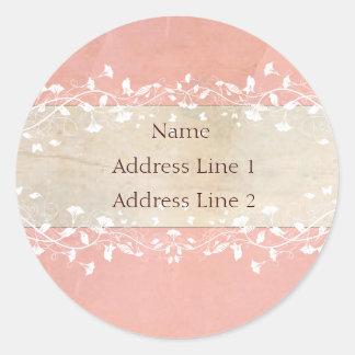 Etiquetas de endereço do chique