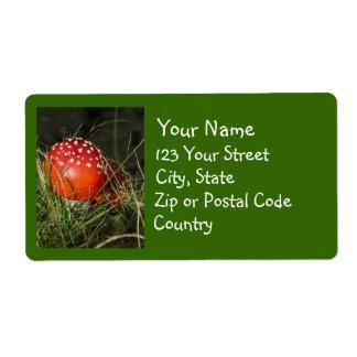 Etiquetas de endereço do cogumelo do Agaric de mos Etiqueta De Frete