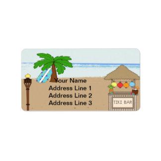 Etiquetas de endereço do convite de festas de