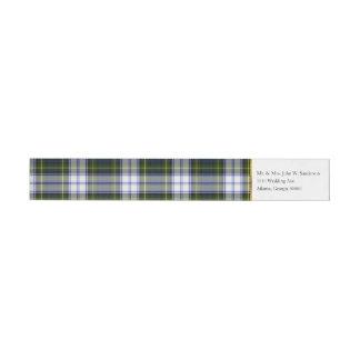 Etiquetas de endereço do envoltório da xadrez do