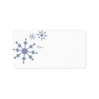 etiquetas de endereço do feriado do floco de neve etiqueta de endereço