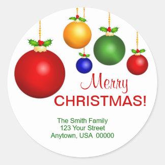 Etiquetas de endereço do feriado do Natal