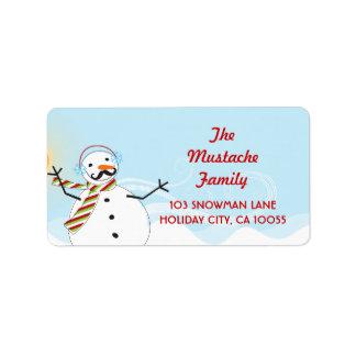 Etiquetas de endereço do feriado do Natal do