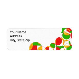 Etiquetas de endereço do feriado etiqueta endereço de retorno