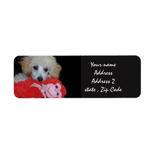 Etiquetas de endereço do filhote de cachorro da
