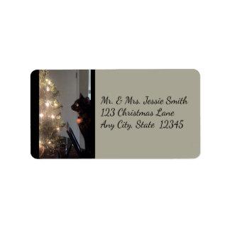 Etiquetas de endereço do gato de chita da alegria
