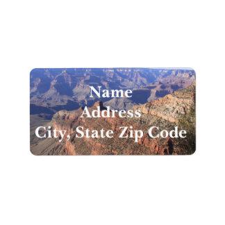Etiquetas de endereço do Grand Canyon