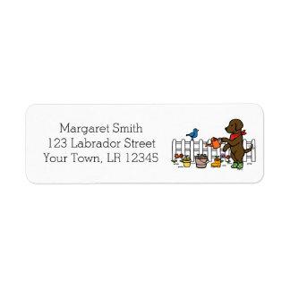 Etiquetas de endereço do jardineiro de Labrador do