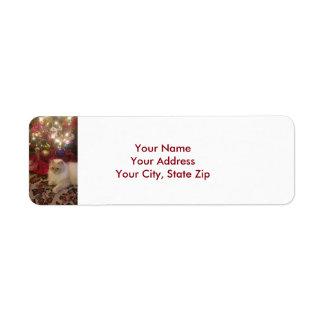 Etiquetas de endereço do Natal
