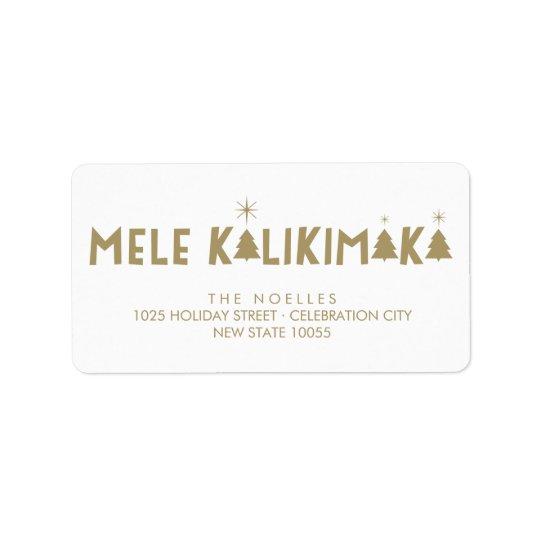 Etiquetas de endereço do Natal do brilho de Mele