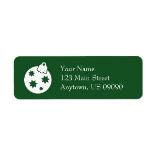 Etiquetas de endereço do ornamento da bola do etiqueta endereço de retorno